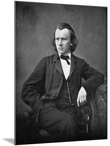 Johannes Brahms--Mounted Photographic Print