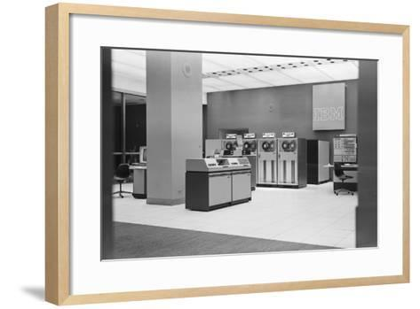 IBM Computers and Office Area-Philip Gendreau-Framed Art Print