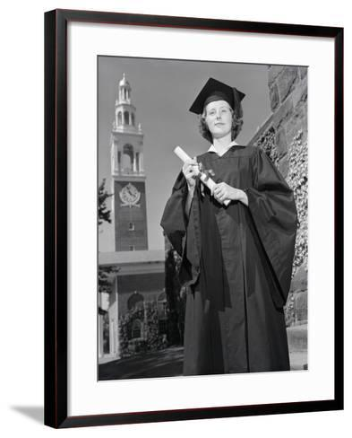 Woman in Mortarboard and Gown-Philip Gendreau-Framed Art Print