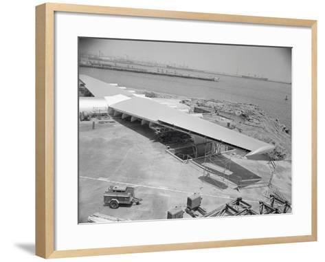 Howard Hughes Spruce Goose Nearing Completion--Framed Art Print
