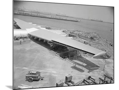 Howard Hughes Spruce Goose Nearing Completion--Mounted Photographic Print