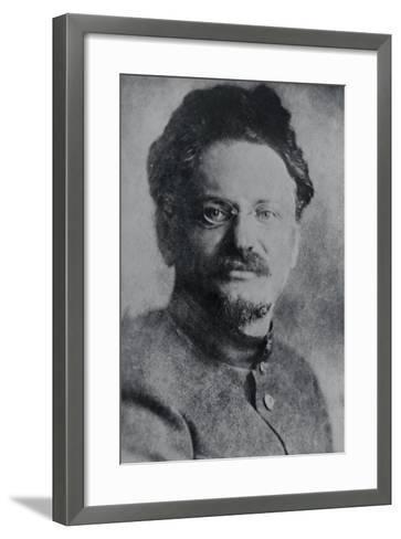 Portrait of Leon Trotsky--Framed Art Print