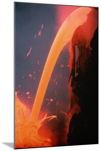 Lava Tube Pours into Ocean-J.D. Griggs-Mounted Photographic Print