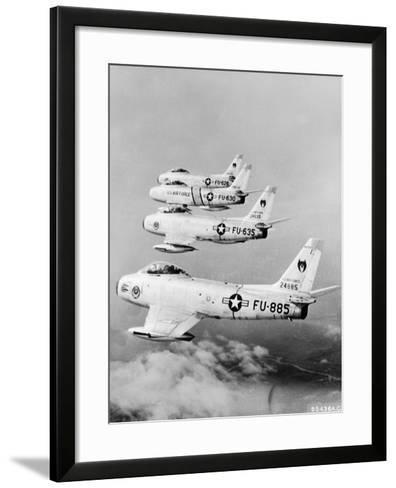 Flight of F-86 Sabrejets Guard the Philippines--Framed Art Print