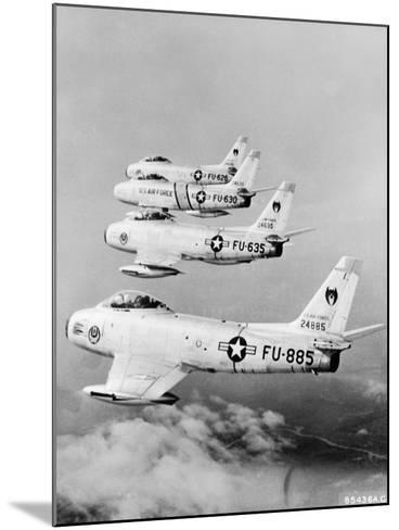 Flight of F-86 Sabrejets Guard the Philippines--Mounted Photographic Print