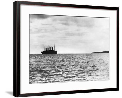 The Titanic Setting Off--Framed Art Print