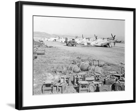 View of Military Armament Field--Framed Art Print