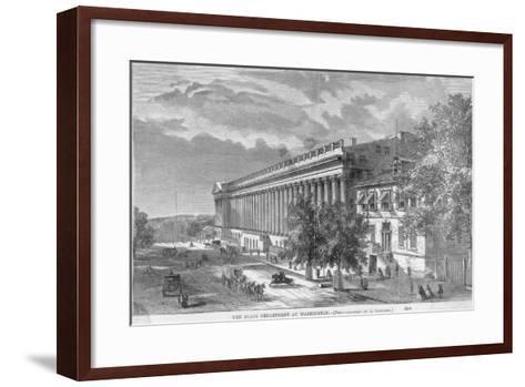 State Department at Washington--Framed Art Print