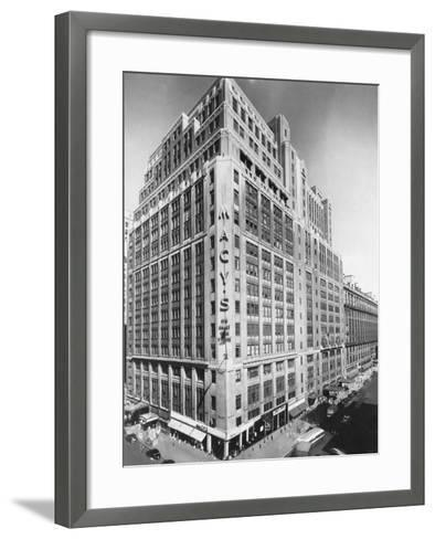 Exterior of Macy's Department Store--Framed Art Print