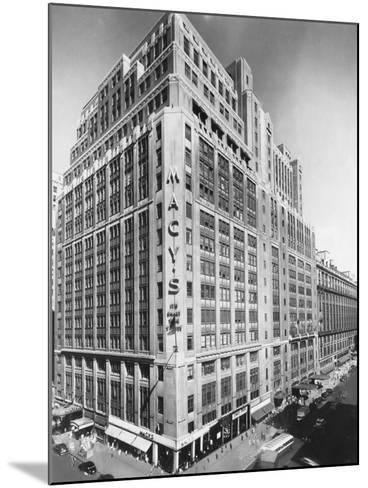 Exterior of Macy's Department Store--Mounted Photographic Print