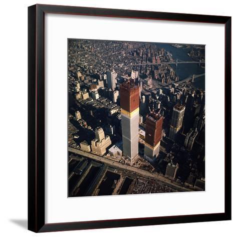 World Trade Center as Seen from the Sky--Framed Art Print