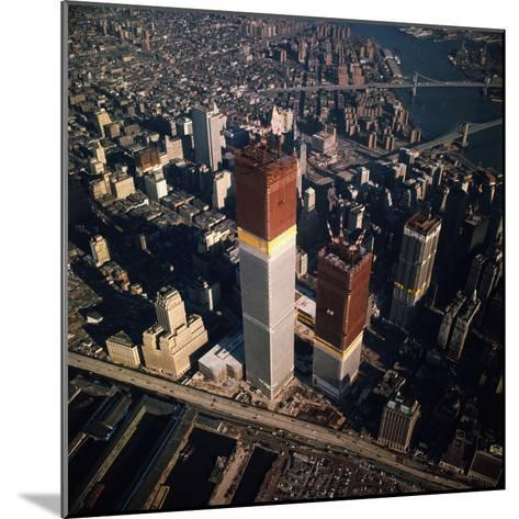 World Trade Center as Seen from the Sky--Mounted Photographic Print
