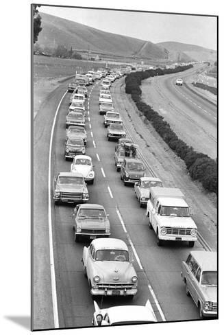 Traffic Jam due to Rolling Stones Concer--Mounted Photographic Print