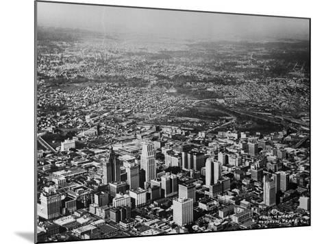 Aerial View of Houston and Surrounding Suburbs--Mounted Photographic Print