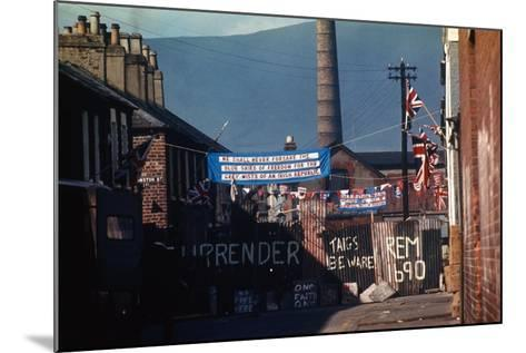 Barricade Erected by Belfast Protestants 1969--Mounted Photographic Print