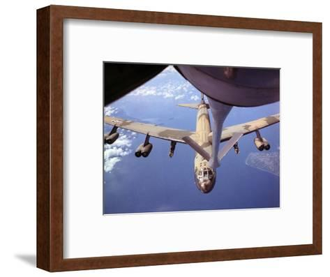 View of USAF B-52 Stratofortress Bomber in Flight--Framed Art Print