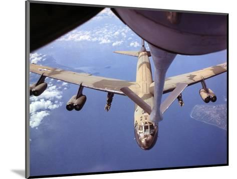 View of USAF B-52 Stratofortress Bomber in Flight--Mounted Photographic Print