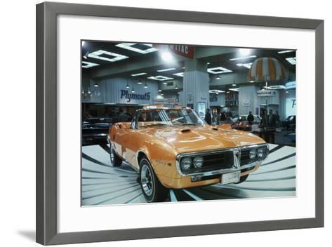 Pontiac Firebird at New York Auto Show--Framed Art Print