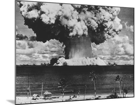 Nuclear Test Cloud in Pacific--Mounted Photographic Print