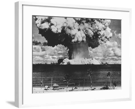 Nuclear Test Cloud in Pacific--Framed Art Print