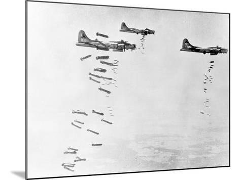 Military Airplanes Dropping Shells over Germany--Mounted Photographic Print