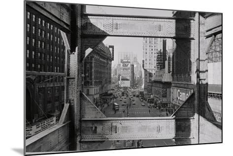 View of Steel Girders of the Old times Tower--Mounted Photographic Print
