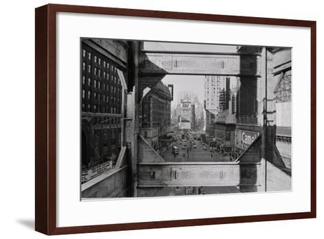 View of Steel Girders of the Old times Tower--Framed Art Print