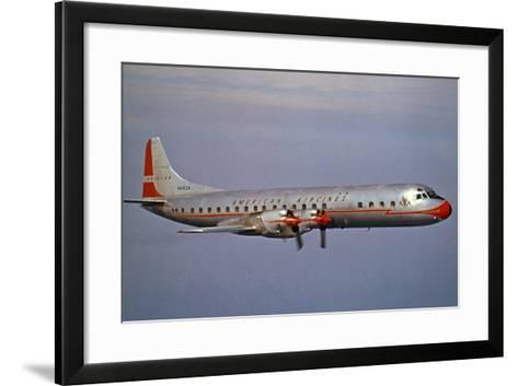 American Airlines Lockheed Electra Turbo-Prop 1966--Framed Art Print
