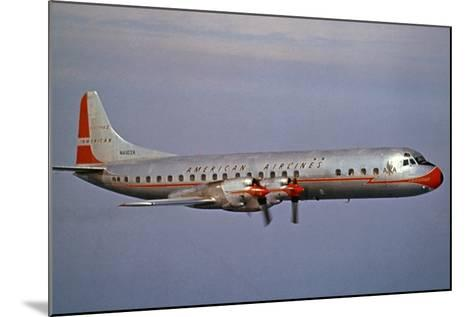 American Airlines Lockheed Electra Turbo-Prop 1966--Mounted Photographic Print