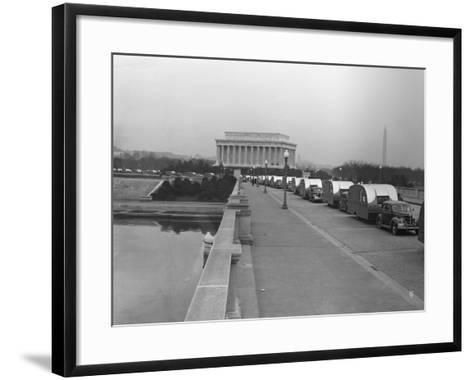 Cars Towing FSA Trailers-Royden Dixon-Framed Art Print