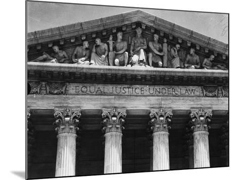 Pediment of the Supreme Court--Mounted Photographic Print
