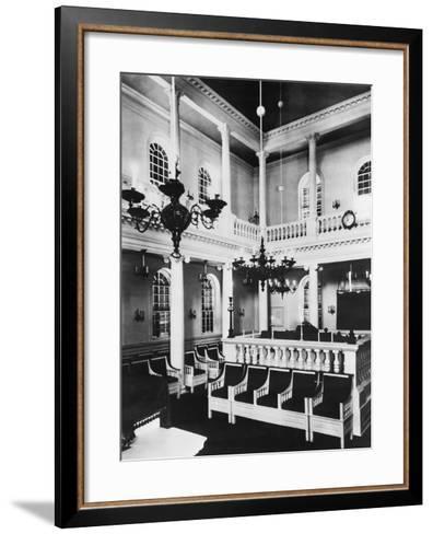 Interior View of Touro Synagogue--Framed Art Print