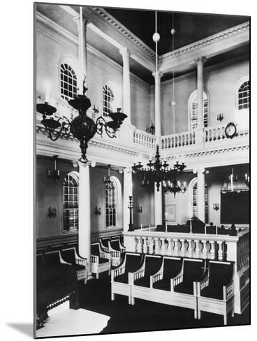Interior View of Touro Synagogue--Mounted Photographic Print