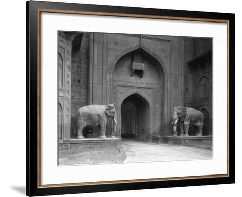 Elephant Statues at Red Fort-Philip Gendreau-Framed Art Print