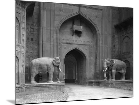 Elephant Statues at Red Fort-Philip Gendreau-Mounted Photographic Print