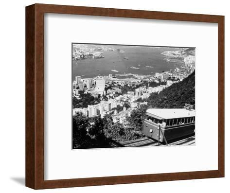 Peak Train with Hong Kong in Foreground-Philip Gendreau-Framed Art Print