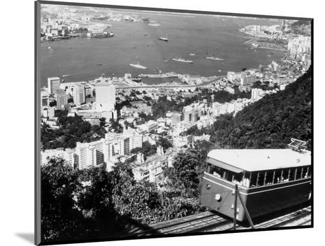 Peak Train with Hong Kong in Foreground-Philip Gendreau-Mounted Photographic Print