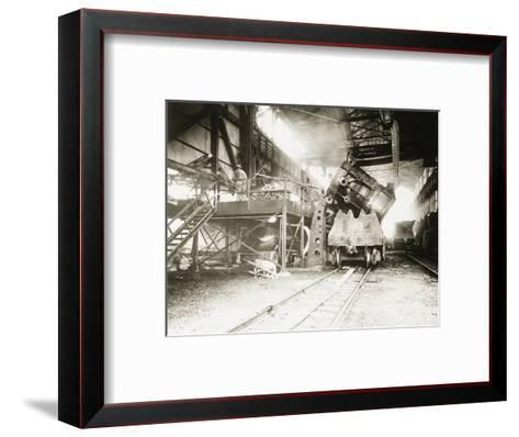 Pouring Ladle at River Rouge--Framed Art Print