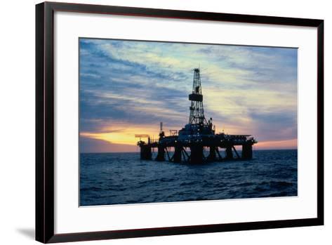 Oil Drilling Rig--Framed Art Print