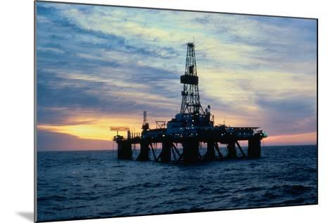 Oil Drilling Rig--Mounted Photographic Print