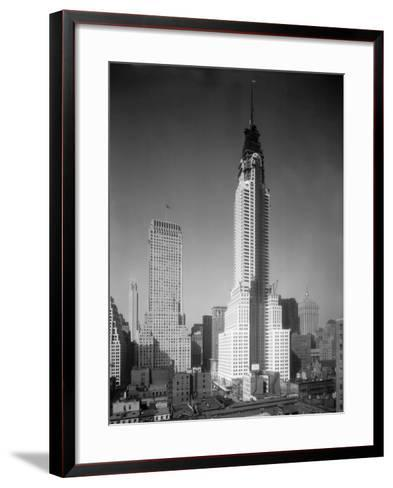 Chrysler Building under Construction--Framed Art Print