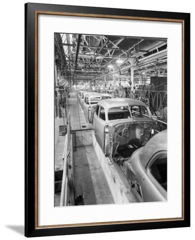 Empty Assembly Line at Auto Body Plant--Framed Art Print