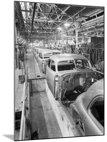 Empty Assembly Line at Auto Body Plant--Mounted Photographic Print