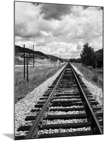Railroad Tracks Stretching into the Distance-Philip Gendreau-Mounted Photographic Print
