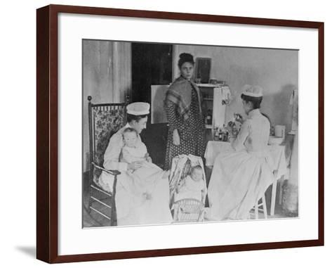 Nurses Caring for Children in Hospital--Framed Art Print