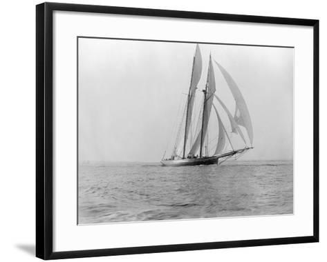 Yacht in the Sea--Framed Art Print