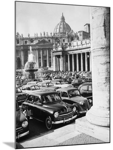 Cars Parking for Vatican Visit--Mounted Photographic Print