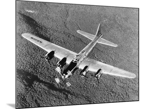 B-17 Flying Fortress in Flight--Mounted Photographic Print