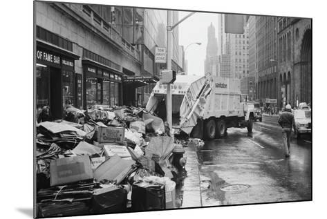 Sanitation Trucks Collecting Garbage--Mounted Photographic Print