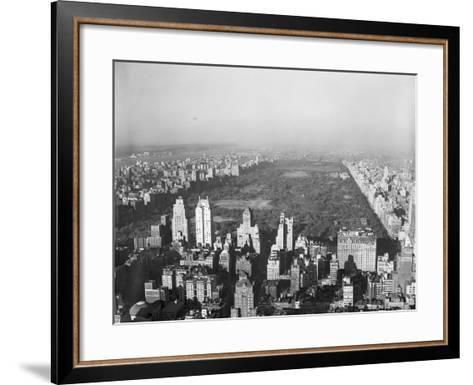 Aerial View of Central Park--Framed Art Print